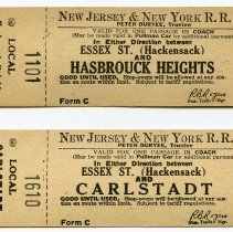 Image of 2: two local tickets Essex St. & Hasbrouck Heights; Essex St. & Carlstadt