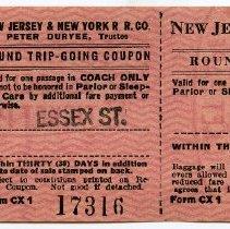 Image of 1: three piece ticket, Essex St., form CX 1