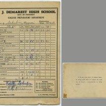Image of 2: Naomi Schubin; Class 9B Academic; Ninth grade, 1951