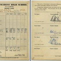Image of 4: Naomi Schubin; Class 11A Academic; Eleventh grade, Sept. 1953- Feb. 1954