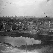 Image of B+W photo negative of SW Hoboken & Jersey City from Riverview Park, Jersey City, n.d., ca. 1906. - Negative, Glass Plate