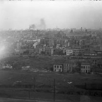 Image of B+W photo negative of development between 3rd & 4th Sts. east from Marshall St., Hoboken, n.d., ca. 1911-1918. - Negative, Glass Plate