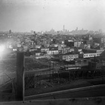 Image of B+W photo negative of southwest Hoboken from Ferry to 2nd Sts., Hoboken, n.d., ca. 1913-1918. - Negative, Glass Plate
