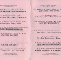 Image of enclosure, pp [2-3]: program Hoboken Varieties of 1987