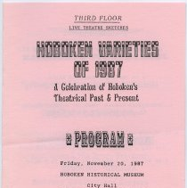 Image of enclosure, pg [1]: program Hoboken Varieties of 1987