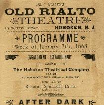 Image of program section as seen framed, enhanced