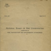 Image of Report on the City of Hoboken, N.J. Report No. 244. March 1923. National Board of Fire Underwriters (N.Y.)