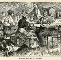 Image of illustration pg [702]: A German Beer Garden, Hoboken