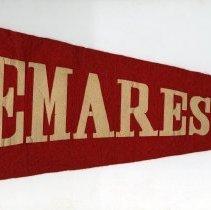 Image of Pennant, felt: Demarest [High School, Hoboken, N.J.] N.d., ca. 1950-1962. - Pennant