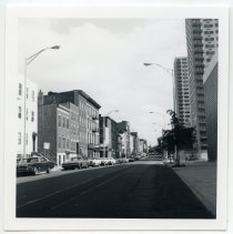Image of B+W photos, 16, of Hoboken streets, buildings, banks, ca. 1976 - Print, Photographic