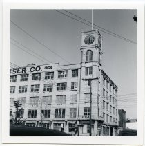 Image of B+W photos, 4, of Keuffel & Esser Co. west plant (before renovation to Clock Tower Apartments), Hoboken, 1975-1976. - Print, Photographic
