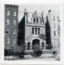 Image of B+W photo of firehouse, Engine Co. No. 5, 410-412 Grand St., Hoboken, ca. 1975-1976. - Print, Photographic