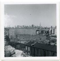 Image of B+W photo of southwest Hoboken, May 1974. - Print, Photographic