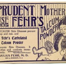 Image of ad: Fehr's Carbolated Talcum Powder