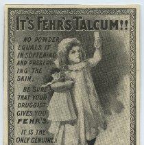 Image of ad: It's Fehr's Talcum!!