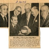 Image of Newsclipping: Recalling Championship Days. The Dispatch, March 20, 1974. - Clipping, Newspaper