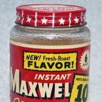 Image of Jar: Instant Maxwell House Coffee. 6 Oz. Maxwell House Div., General Foods Corp., Hoboken, N.J. N.d., ca. 1950-1960. - Jar
