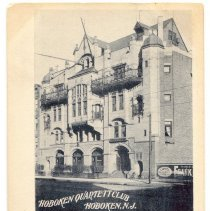 Image of Postcard: Hoboken Quartett Club, Hoboken, N.J. Postmarked Baltimore, July 24, 1903. - Postcard