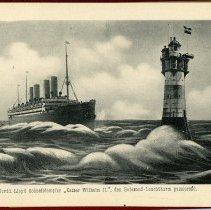 """Image of [9] Nordd. Lloyd Schnelldampfer """"Kaiser Wilhelm II.""""..."""