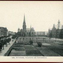 Image of [13] Lehe, Hafenstrasse, Pauluskirche und Oberrealschule.