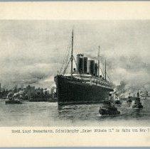 """Image of [2] Nordd. Llloyd Bremerhaven,... """"Kaiser Wilhelm II"""" im Hafen von New-York"""