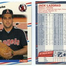 Image of 3, 1988: Jack Lazorko, P, Angels, Fleer 494