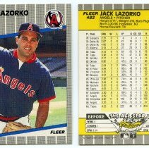 Image of 8, 1989: Lazorko, P, Angels, Fleer 482