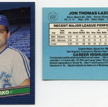 Image of 2, 1986: Jack Lazorko, P, Mariners, Donruss ' 86; 628