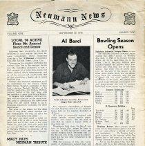 Image of Newsletter: The Neumann News. Vol.1, No. 2, Sept. 30, 1946. - Newsletter