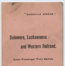 """Image of Timetable: """"Roseville Avenue."""" D.L. & W.R.R. Local Passenger Train Service between N.Y. & Newark & Roseville Ave. Schedule in Effect Nov. 14, 1898. Corrected to Dec. 1, 1898. - Timetable"""