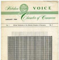 Image of Newsletter: Voice. Vol. 1, No. 1. Jan. 1964. Hoboken Chamber of Commerce. - Newsletter