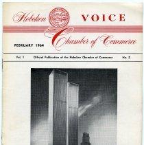 Image of Newsletter: Voice. Vol. 1, No. 2. Feb. 1964. Hoboken Chamber of Commerce. - Newsletter