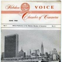 Image of Newsletter: Voice. Vol. 1, No. 6. June 1964. Hoboken Chamber of Commerce. - Newsletter