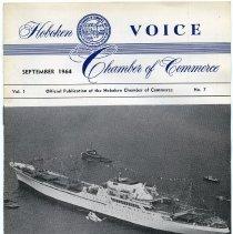 Image of Newsletter: Voice. Vol. 1, No. 7. Sept. 1964. Hoboken Chamber of Commerce. - Newsletter