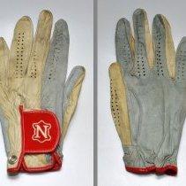 Image of Glove, golf: Neumann Tackified Glove. Made with Neumann leather, R. Neumann & Co., Hoboken, N.J. N.d., ca. 1987-1995. - Glove, Golf