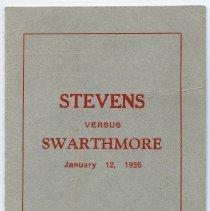 Image of Scorecard (basketball game): Stevens versus Strathmore. Jan. 12, 1935. Castle Point, Hoboken, N.J. - Scorecard
