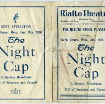 "Image of Program: Rialto Stock Players presentation of ""Desire Under The Elms."" Week of Jan. 4, 1926. [The Rialto Theatre, 118 Hudson St., Hoboken]. - Program, Theater"