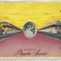 Image of The Route of  Phoebe Snow dining car placemat