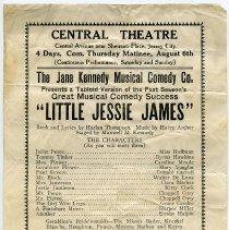 "Image of 2: Central Theatre, Jersey City, ""Little Jessie James"" 1925"