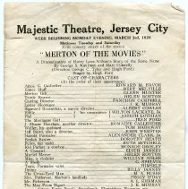 "Image of 3: Majestic Theatre, Jersey City, ""Merton of the Movies"" 1924"