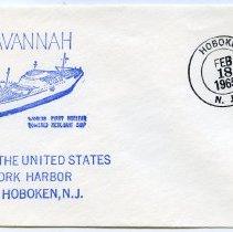 Image of Postal cachet, 3: N.S. Savannah. Hoboken port of call commemoratives, 1965-1966. - Commemorative