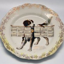 Image of Plate, calendar: Compliments of Henry Sherry, 564 First St., Hoboken, N.J. 1910. - Plate, Decorative