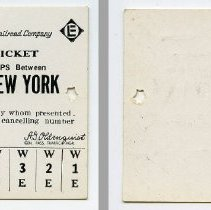 Image of Ticket, transportation, sample: Erie-Lackawanna Railroad. Yearly Ten Trip Ticket Between Short Hills & N.Y. 1967. - Ticket, Transportation