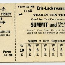 Image of full ticket, Form 10 NS