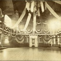 Image of Sepia-tone photo of Quartett Club interior, 1015-1019 Washington St., decorated by United Decorating Co., Hoboken, n.d., ca. 1899-1906. - Print, Photographic