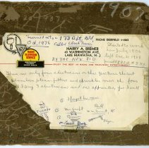 Image of reverse, view 1, with letterhead in place as found