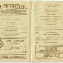 Image of 4: State Theatre, pp. [2-3]: vaudeville, Photoplay (movie) The Sophomore