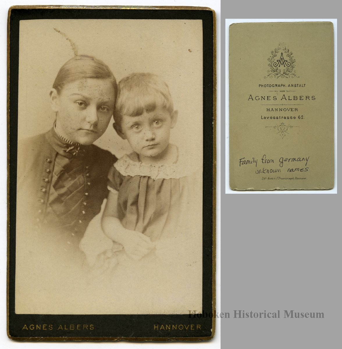 Carte De Visite 3 Of Germans Probably Related To Sanntrock Family Hoboken From Studios In Hannover Germany Nd Ca 1885 1900