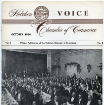 Image of Newsletter: Voice. Vol. 1, No. 8. Oct. 1964. Hoboken Chamber of Commerce. - Newsletter