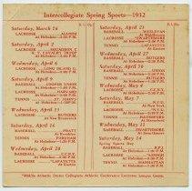 Image of inside, Intercollegiate Spring Sports - 1932